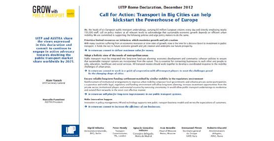 Las empresas encargadas del transporte público en varias capitales europeas se unen en defensa del modelo