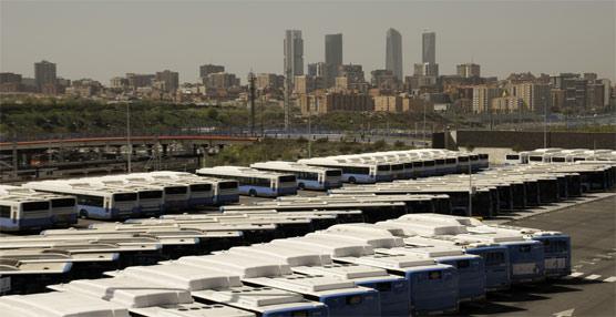 Flota de autobuses de la EMT de Madrid.