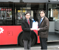 Bilbobus y Autocares Sorbón S.L. entran en el el programa Ecostars de gestión sostenible de flotas
