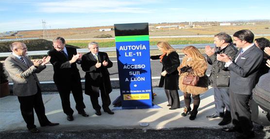 Ana Pastor inaugura la autovía LE-11 de acceso sur a León 'que beneficiará a los usuarios reduciendo los tiempos'