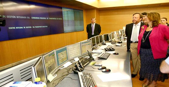 Inauguración del puesto de mando de Metro de Madrid.
