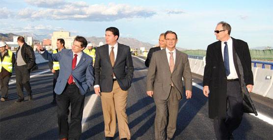 Reabierto al tráfico el puente de la autovía A-7 sobre la rambla de Béjar (Murcia) afectado por las últimas inundaciones