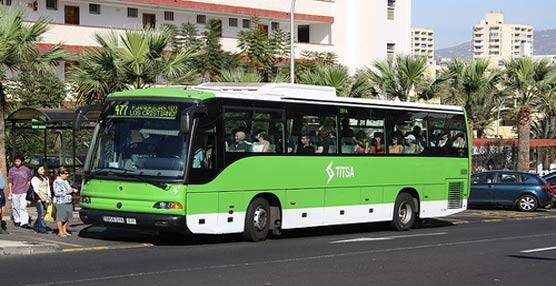 Titsa modifica el recorrido de sus líneas 026 y 203 con motivo de las obras que se realizan en algunos tramos de sus itinerarios