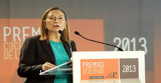 La ministra de Fomento, Ana Pastor, durante la entrega de premios en la que destacó la importancia de la logística.