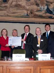Acto de presentación el pasado diciembre del acuerdo en defensa del modelo de transporte público.