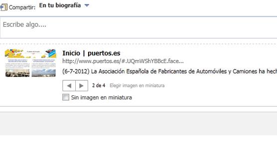 Puertos del Estado en Facebook.