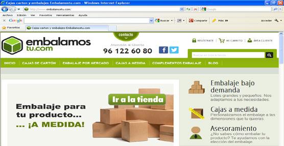La tienda online de Tecnicarton, Embalamostu.com, pone en marcha un sistema de producción de embalaje bajo demanda