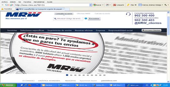 MRW pone en marcha una campaña mensual de envíos 'solidarios' destinada a las personas en situación de desempleo