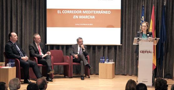 Pastor: 'Los 2.433 millones de euros invertidos demuestran el compromiso del Gobierno con el Corredor Mediterráneo'