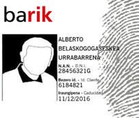 El Consorcio de Transportes de Bizkaia supera las 500.000 tarjetas 'Barik', de pago sin contacto, emitidas hasta la fecha