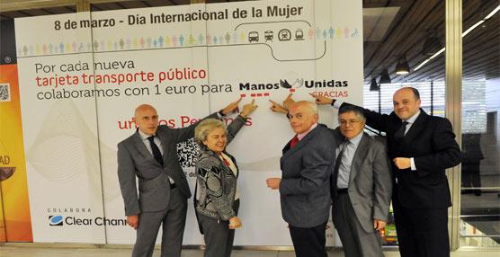 El CRTM colabora con la campaña 'No hay Justicia sin Igualdad' de Manos Unidas a través de la nueva Tarjeta sin contacto