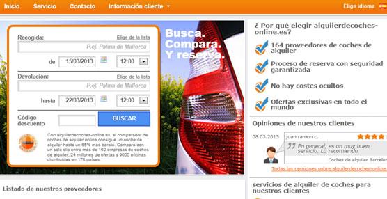 Las ciudades españolas cuentan con 4,5 proveedores de alquiler de coches, según estudio