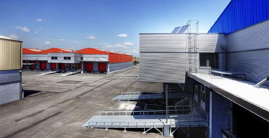 Nueva plataforma logística del grupo farmacéutico ALK-Abelló situada en el parque logístico de Saba en la localidad de Coslada.