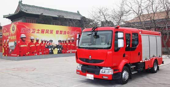 Renault Trucks entrega dos Midlum a la Ciudad de Pekín para lleva a cabo servicios de extinción de incendios