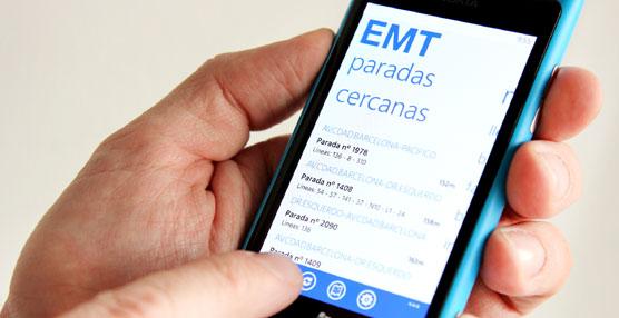Aplicación de la EMT de Madrid.