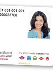 Tarjeta de transporte público de Madrid.