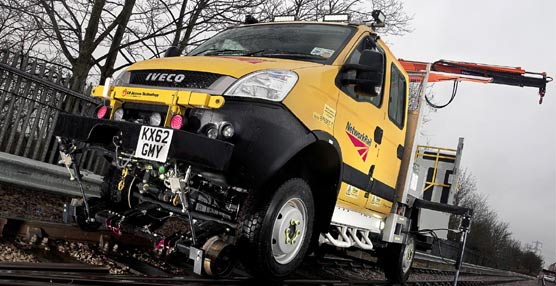 Iveco aporta 29 vehículos Daily 4x4 para el mantenimiento de las infraestructuras ferroviarias en Gran Bretaña