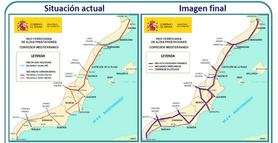 España firma un acuerdo para impulsar el transporte ferroviario de mercancías a través del Corredor del Mediterráneo