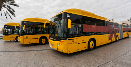 Castrosua entrega a Guaguas Municipales tres City Versus articulados sobre bastidor Volvo B9SLA