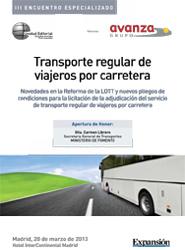 Hoy se celebra en Madrid el III Encuentro de Transporte Regular de Viajeros por Carretera