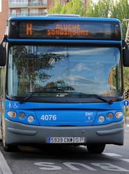 La EMT madrileña reducirá los servicios de autobuses universitarios con motivo de la Semana Santa