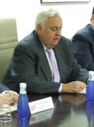 El director gerente del CRTM, José Manuel Pradillo, durante una reunión del consorcio.