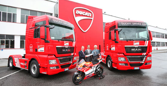 El transporte de las motos de competición del equipo oficial Ducati de MotoG se realizará en camiones MAN