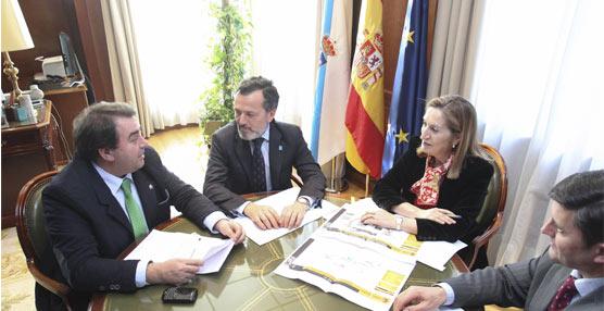 Reunión entre responsables de Fomento y autoridades locales para nuevas actuaciones de mejora, éstas en Galicia.