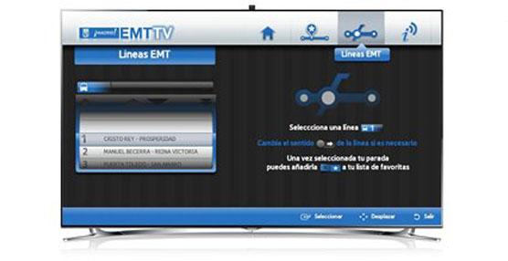 Samsung SmartTV con la aplicación EMT TV.