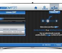 El servicio de la EMT se podrá consultar en el televisor a través de una aplicación desarrollada con Samsung