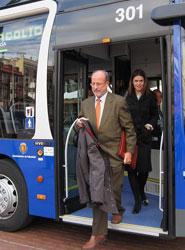 Los autobuses de Valladolid transportan 3,7 millones de pasajeros menos en 2012 en comparación con 2008