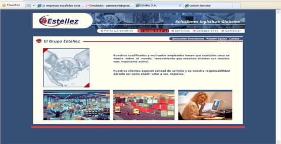 Página web del nuevo miembro de la Red Ibérica de Palletways, Estéllez Galicia.