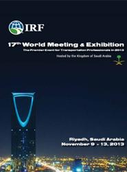 Cartel de la 17º edición del Congreso Mundial de la IRF.
