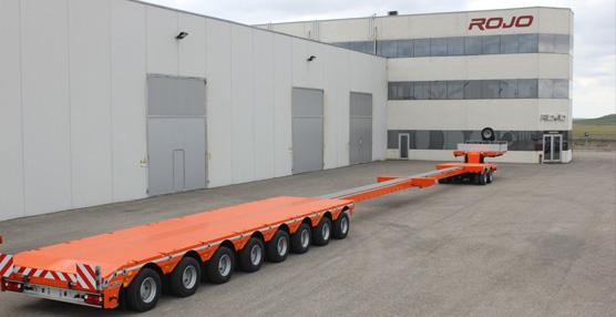 Semirremolques Rojo entrega en Rusia el tráiler más grande fabricado en España