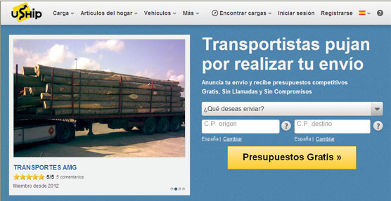 La bolsa de carga uShip.com multiplica por 10 el número de transportistas registrados el primer trimestre del año
