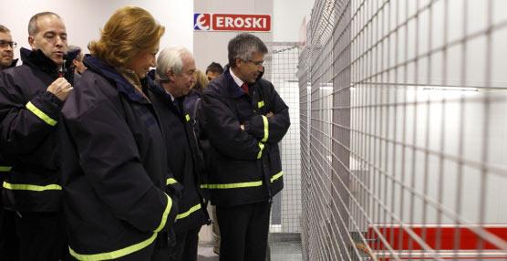 Eroski inaugura un nuevo proceso de automatización para la preparación de pedidos de fruta y verdura en Zaragoza
