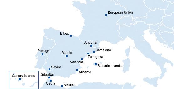 La red de la compañía se extiende por toda España y Europa.