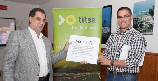 Titsa logra reducir el consumo de combustible y la emisión de contaminantes a través de un nuevo proyecto