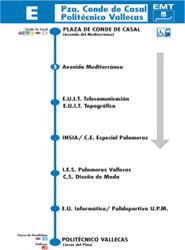 La EMT de Madrid cambia la denominación de la línea universitaria E 'para evitar posibles confusiones'