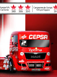 El CEPSA Truck Team arranca motores con dos circuitos nuevos, el de Navarra y el Red Bull Ring en Austria