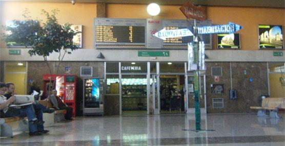 Interior de la estación de autobuses de Cáceres.