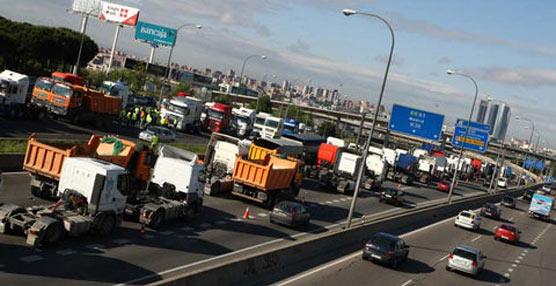 Imagen de una movilización de camiones anterior.