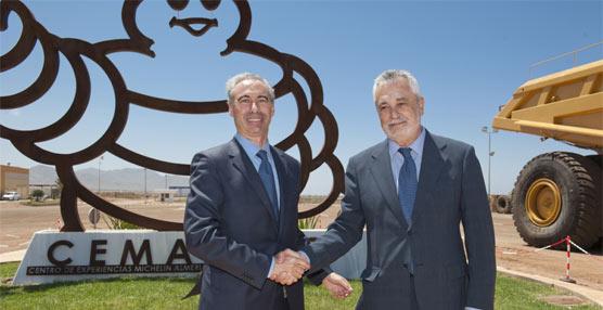 El presidente de Andalucía, José Antonio Griñán, celebra los 40 años del Centro de Experiencias Michelin Almería