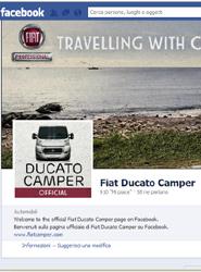Fiat abre una fan page en Facebook para los conductores de su autocaravana Ducato Camper