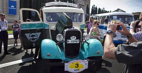Comienza la Exposición y Rally Internacional de Autobuses Clásicos entre Barcelona y Caldes de Montbui