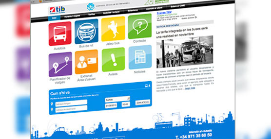 El transporte público de Menorca estrena una web unificada, centrada en la accesibilidad y la información al usuario