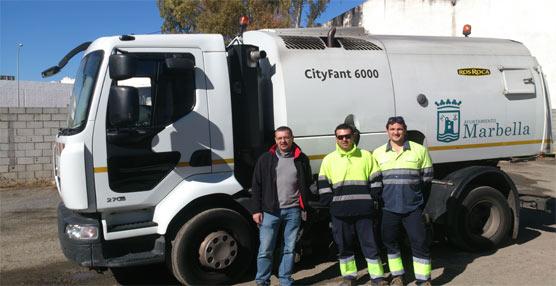 La transmisión automática de Allison 'facilita el trabajo' a la delegación de Limpieza Viaria del Ayuntamiento de Marbella