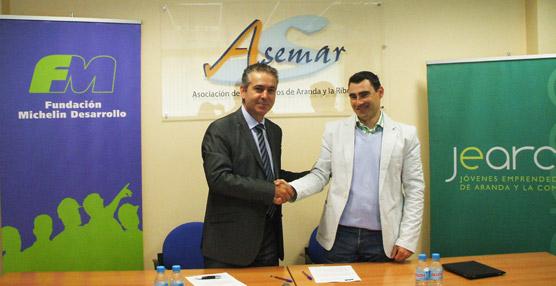 La Fundación Michelín Desarrollo y Jearco alcanzan un acuerdo para promocionar el empleo en Aranda de Duero