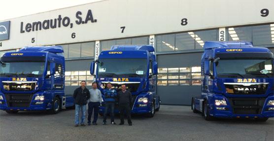 MAN entrega las primeras tres tractoras MAN Euro 6 matriculadas en España a Transportes Rafali
