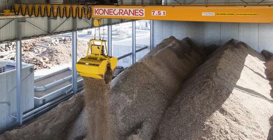 Konecranes presenta CXT Biomasa, un a grúa para biomasa completamente automática, inteligente y compacta